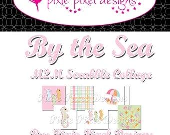 INSTANT DOWNLOAD - M2MG By The Sea Scrabble Tile Collage Sheet