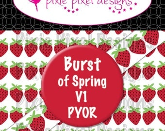 M2MG Burst of Spring V1 Print Your Own Ribbon Graphics