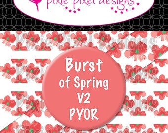 M2MG Burst of Spring V2 Print Your Own Ribbon Graphics