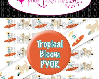 M2MG Tropical Bloom Print Your Own Ribbon Graphics