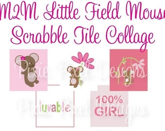 Field Mouse M2MG Scrabble Tile Collage Sheet
