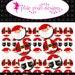 INSTANT DOWNLOAD - Santa Claus Ornament Bottlecap Images Bottle Cap Disc-Its Scrapbooking Boutique Digital Collage Art Sheet