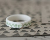 Sweetpea - Sage - Porcelain Ring