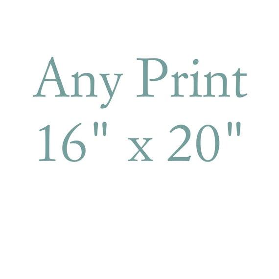 Large Art Print 16x20- Poster Sized
