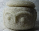 Neolithic pattern felted Box