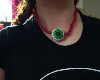 Pink Eyeball Necklace