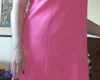 Vintage Pink Polyester Dress Medium Large