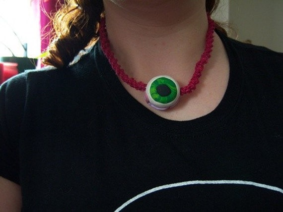 Pink Eyeball Necklace