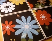Coasters - Retro Blossoms - Set of 4