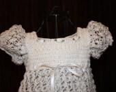 Brooke Crochet Blessing / Christening Dress, Christening Gown, Baptism, Confirmation