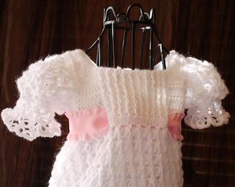 Emily / Blessing / Christening Dress / Crochet Heirloom / Christening Gown / Baptism / Confirmation / Christening Dress