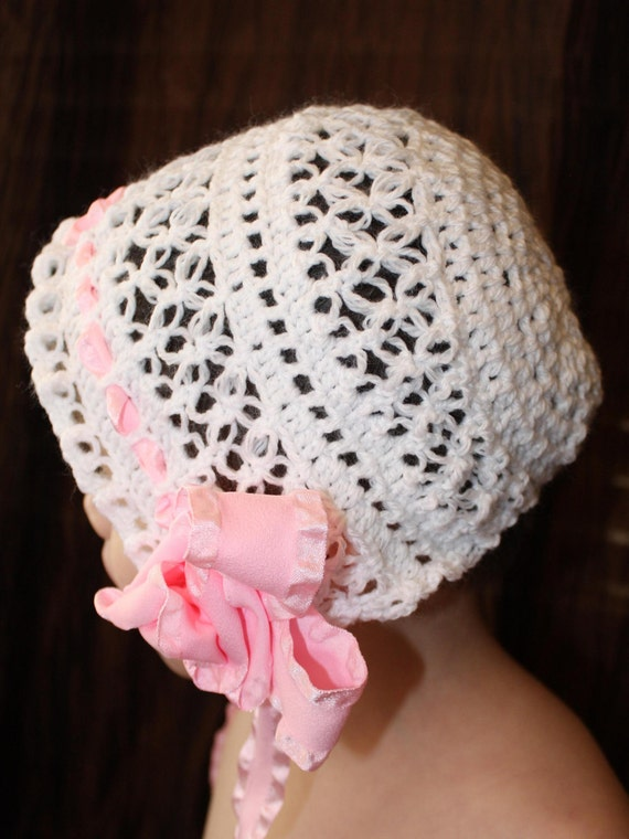 Blessing / Christening Bonnet to match Jane and Emily Dresses