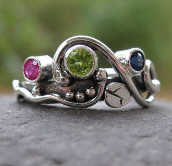 unique multi mothers ring family ring sterling