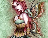 Fairy Art Print - Arden - 8 x 10 Fantasy Fairy Art Print - by Nikki Burnette