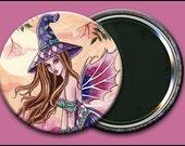 Rowenia 2 1/4 Pocket Mirror w/ Bag - by Nikki Burnette