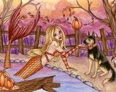 Mermaid Art Print - Sabrina - 8 x 10 Fantasy Art Print - by Nikki Burnette