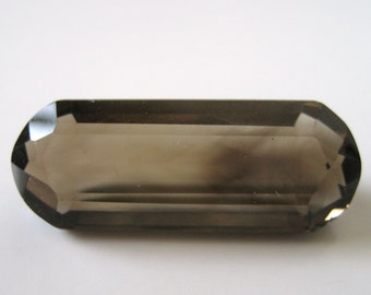 Smoky Quartz - Rounded Radiant-Cut Gem, 31.10 cts - 13x34 (SQ108)