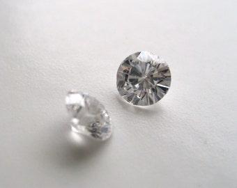 5mm Cubic Zirconia - Pair of Round Gems (X115)