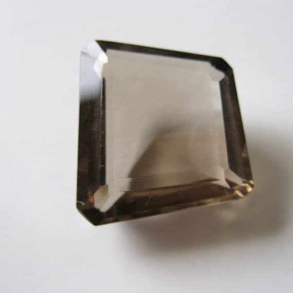 Smoky Quartz - Trapezoid Faceted Gem, 17.70cts - 15x19 (SQ106)