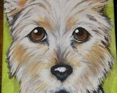 Custom Pet Painting Portrait 5x7 Handpainted