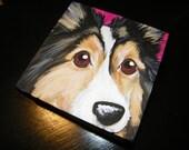 Pet Portrait Painting 6x6 - Custom painted
