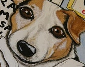Custom Funny Pet Portrait - Just for you - 9x12 canvas
