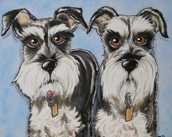 Custom Pet Portrait Painting 16x20 handpainted