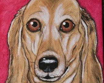 Pet Portrait Painting 8x10 Custom hand painted, pet memorial, pet loss, dog