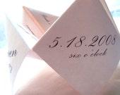 Cootie Catchers- Origami Wedding Programs- DESIGN ONLY