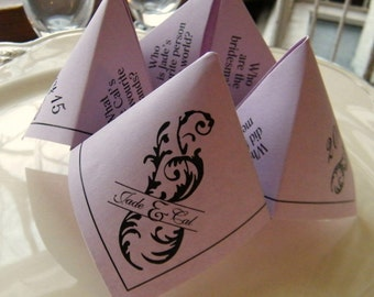 Cootie Catchers- Origami Wedding Favors- DESIGN ONLY .pdf File- 2 versions