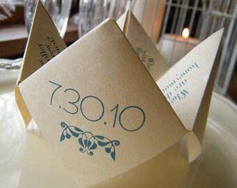 SAMPLE- Cootie Catcher- Origami Wedding FAVOR