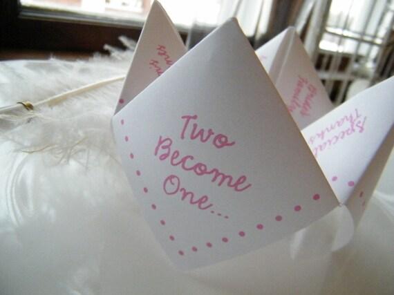 Cootie Catchers- Origami Wedding Programs- Set of 100 COLOR Ink
