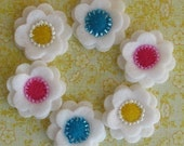 White Felt Flower Sampler