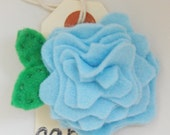Rosy Posy Hair Clip in baby blue