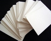 50 ACEO ATC card blanks 140 lb Fabriano watercolor paper blanks cold pressed white slightly textured paper