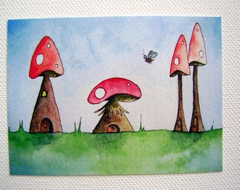 Mushroom Alley Limited Edition ACEO ATC Print