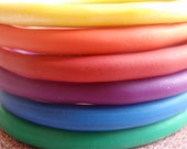 Rainbow Clay Bangles