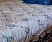 Vintage Floral Print Nylon Bedspread