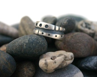 Sterling Silver Ring Double Trouble  Size 5