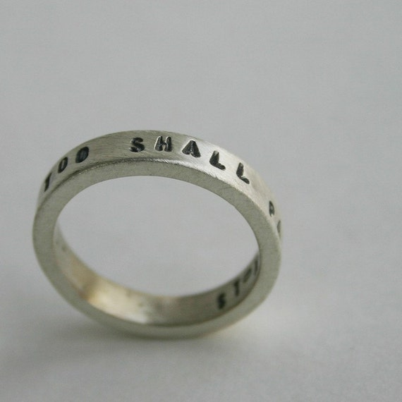 This Too Shall Pass Ring Etsy