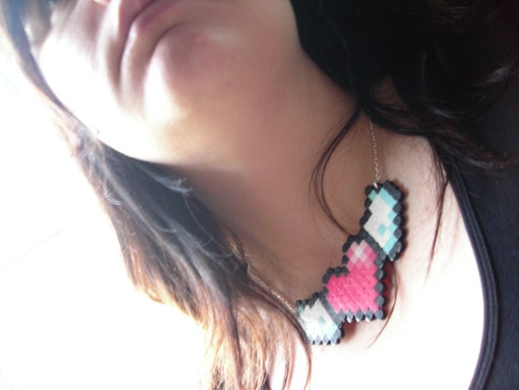 8-Bit Flying Heart Necklace