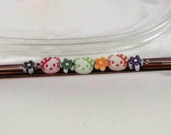 Hello Kitty double point needle (DPN) sock needle holders US 0 - 5