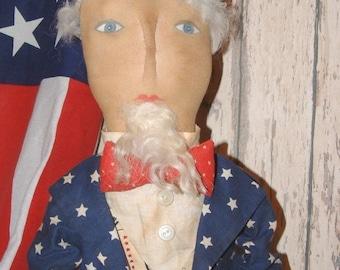 "Americana Uncle Sam Doll ""E"" Pattern"