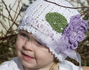 Cheryls Crochet CC38-Victorian Rose Toddler Bonnet Pattern