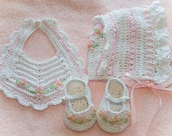 Cheryl's Crochet CC64-Heirloom Daisy Baby Set 0-3 MPDF Pattern