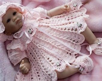 Cheryls Crochet CC10 Sweet As A Rose Newborn Outfit Pattern