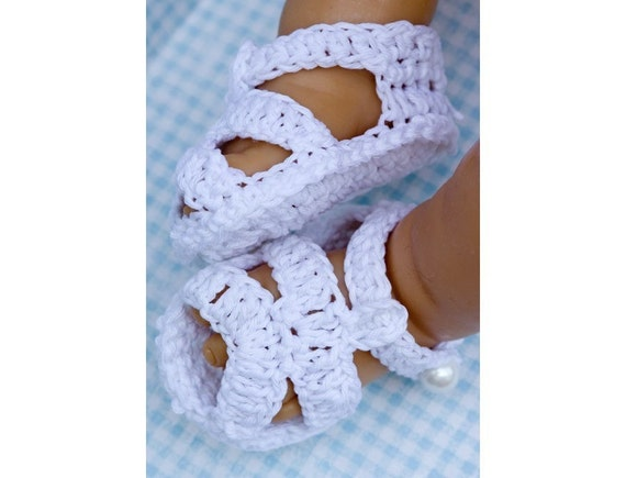 Cheryls Crochet Classic Crocheted Baby Sandals PDF  Pattern