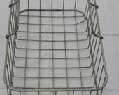 Vintage Heavy Wire Storage Basket