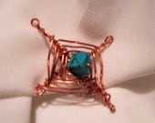 Copper Gods Eye Pin
