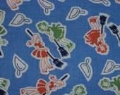 Vintage Novelty Feedsack Fabric